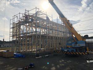 S事務所新築工事上棟しました。の画像