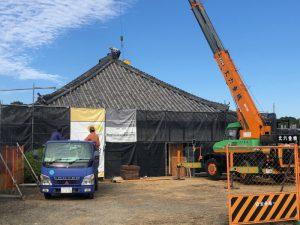 隆昌寺耐震改修工事状況の画像